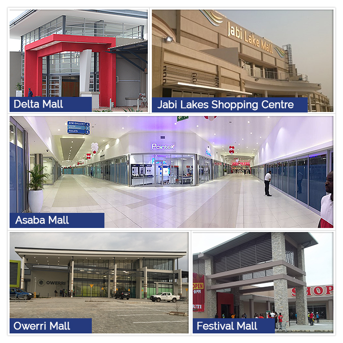 Profica involved in 5 big retail projects in Nigeria during 2013 – 2016