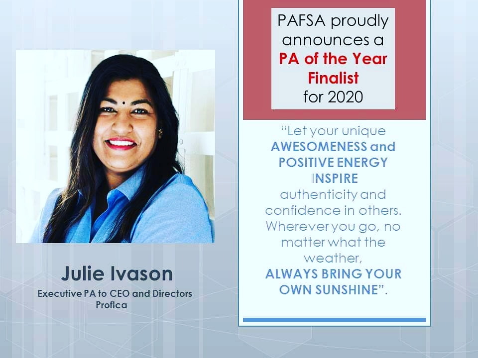Profica's Julie Ivason is a finalist for PAFSA PA of the Year